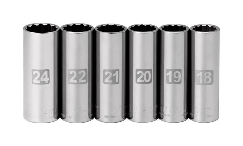 Craftsman 24 mm x 1//2 in drive Metric 6 Point Standard Impact Socket 1 pc.