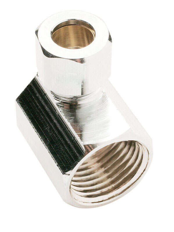 Ace  1/2 in. FIP   x 3/8 in. Dia. Compression  Brass  Angle Connector