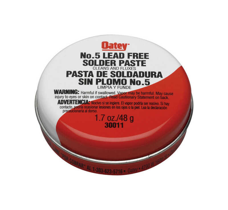 Oatey  1.7 oz. Lead-Free Solder Paste  Aluminum  1 pc.