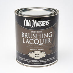 Old Masters Satin Clear Oil-Based Brushing Lacquer 1 qt.