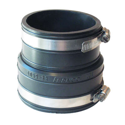 Fernco  Schedule 40  3 in. Socket   x 3 in. Dia. Socket  PVC  Flexible Coupling