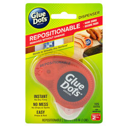 Glue Dots  Repositional  Medium Strength  Glue  Double-Sided Adhesive Dispenser  125 pc.