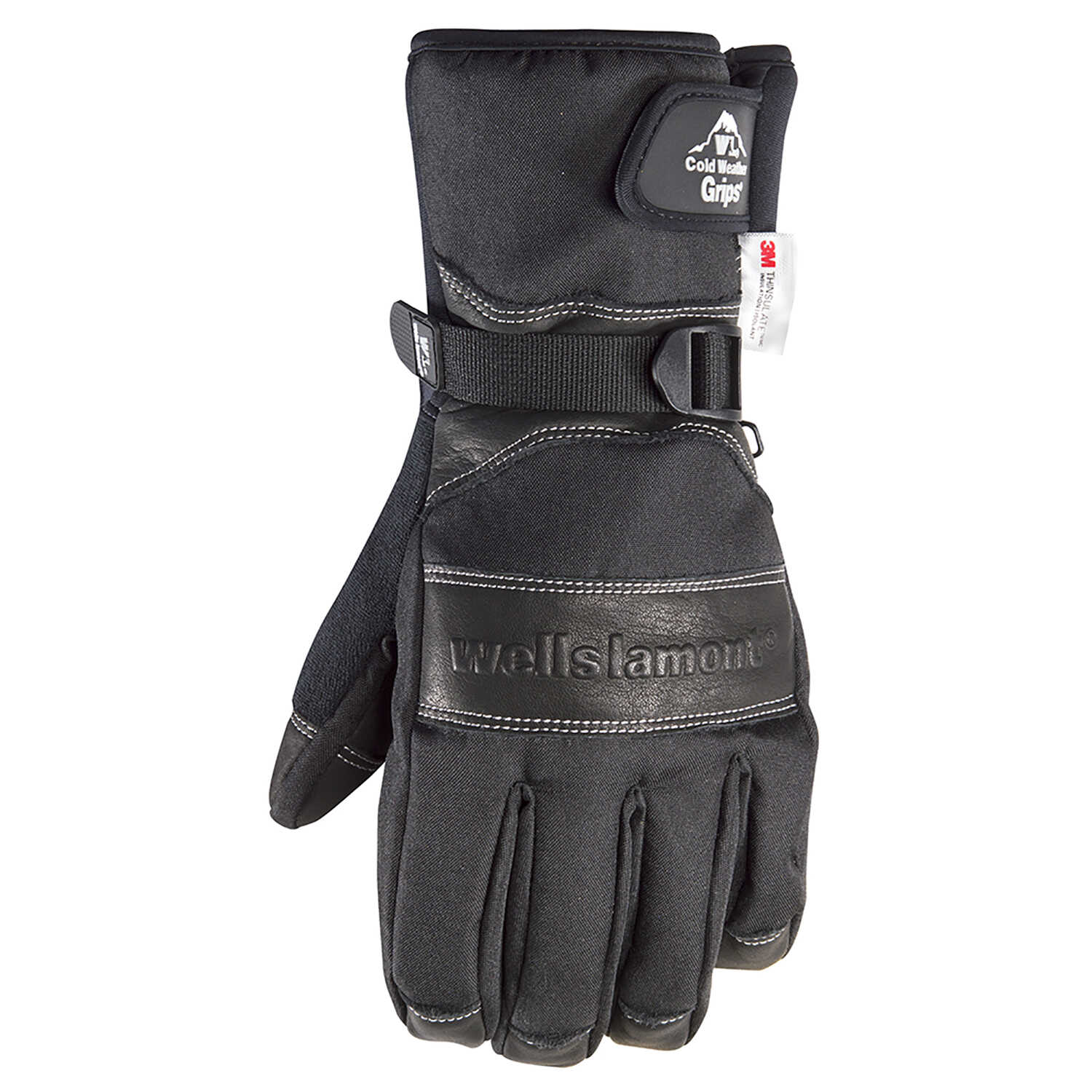 Wells Lamont  XL  Cowhide Leather  Winter  Black/Tan  Gloves