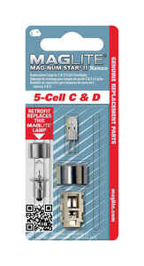 Maglite  Mag-Num Star II 5-Cell C& D  Xenon  Flashlight Bulb  Bi-Pin Base