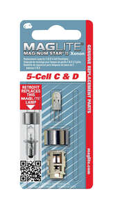 Maglite  Mag-Num Star II 5-Cell C& D  Xenon  Bi-Pin Base  Flashlight Bulb