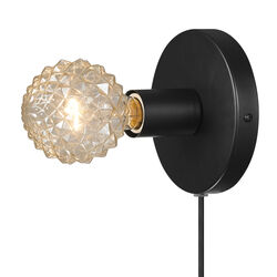 Globe Electric  3 in 1 Hardwire or Plug-In  1-Light  Matte  Wall Sconce