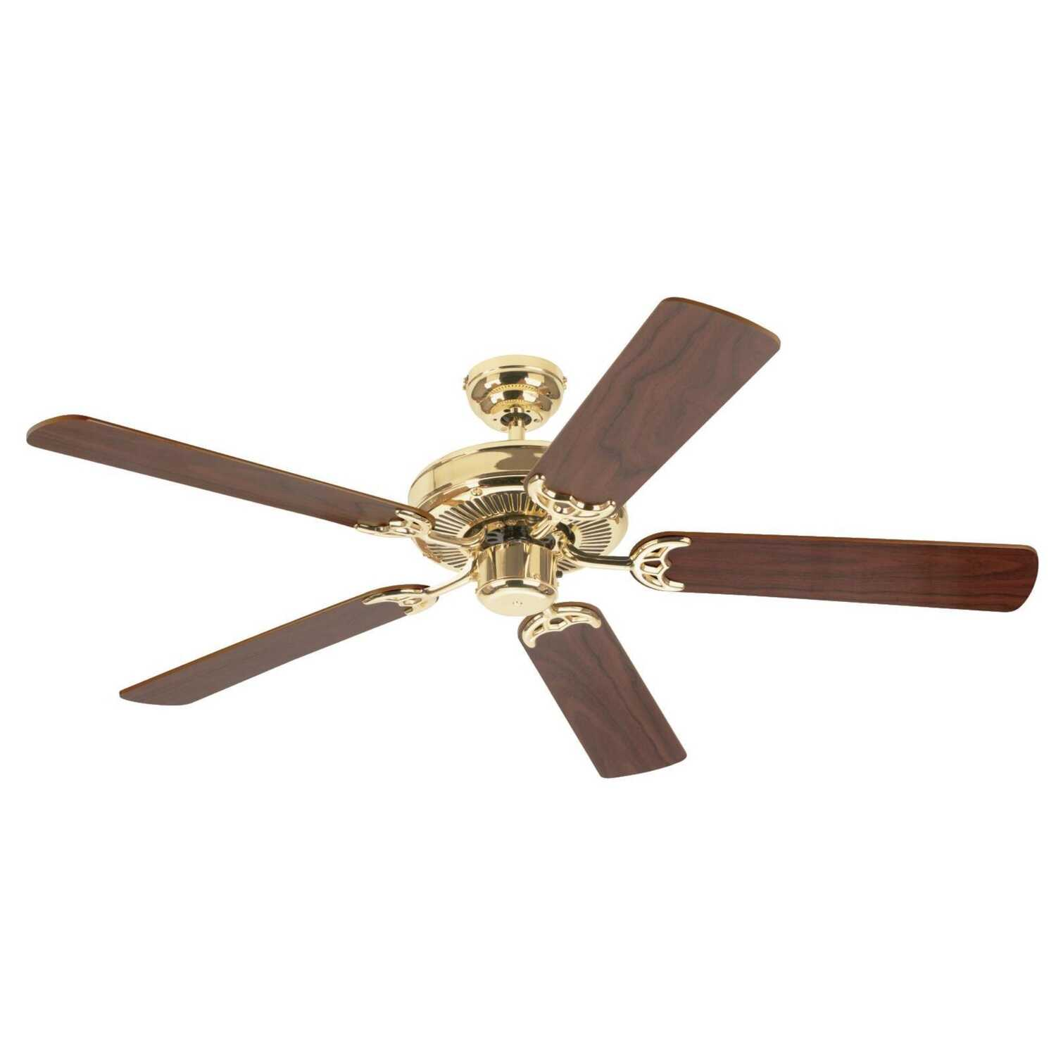 Westinghouse  Contractor's Choice  52 in. 5 blade Indoor  Polished Brass  Ceiling Fan