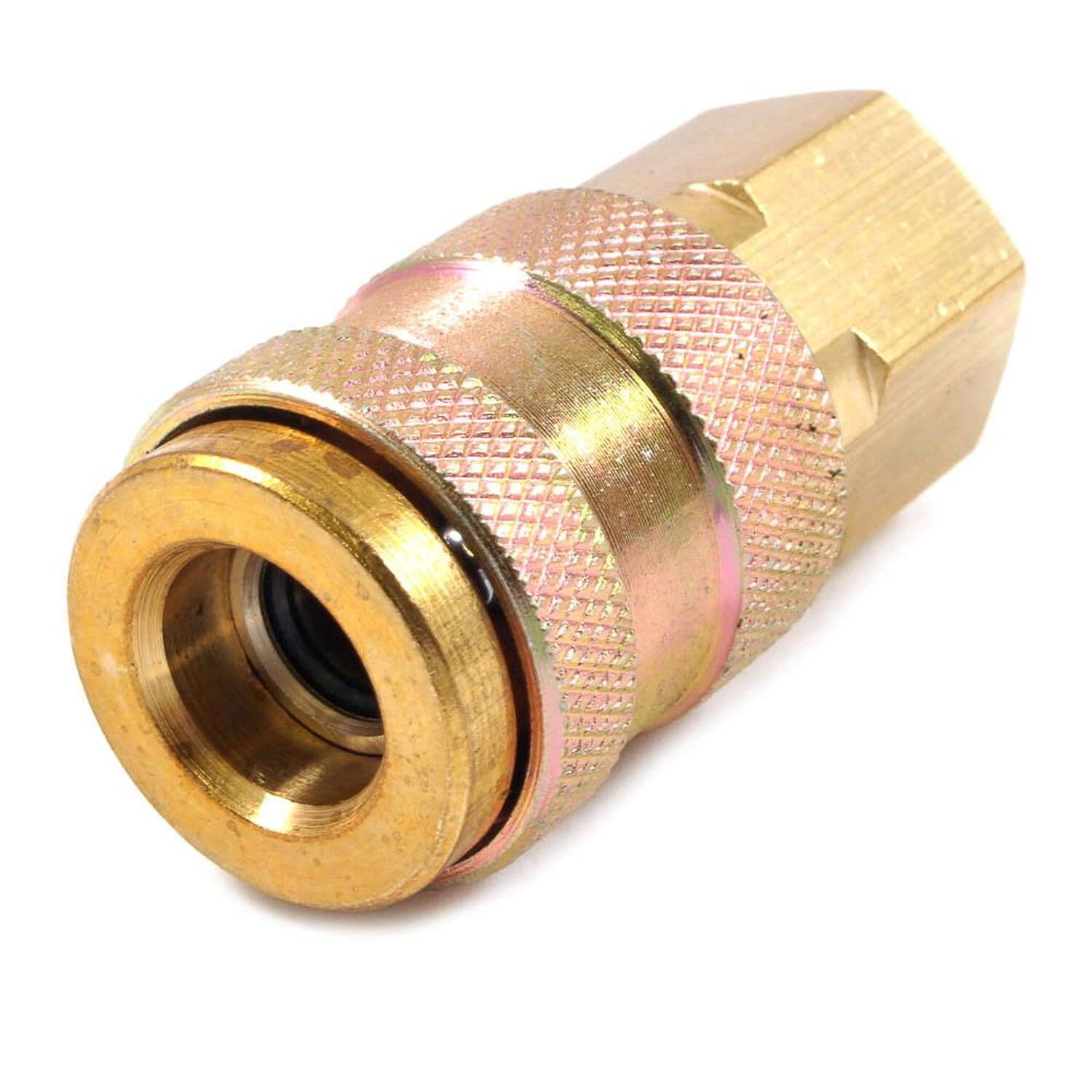 Forney Brass Universal Coupler 1/4 in. Female NPT 1/4 in. Female NPT 1 pc.