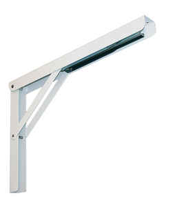 Knape & Vogt  White  Steel  Folding L  Ornamental Shelf Bracket Screws  7.87 in. H x 12 in. L 750 lb
