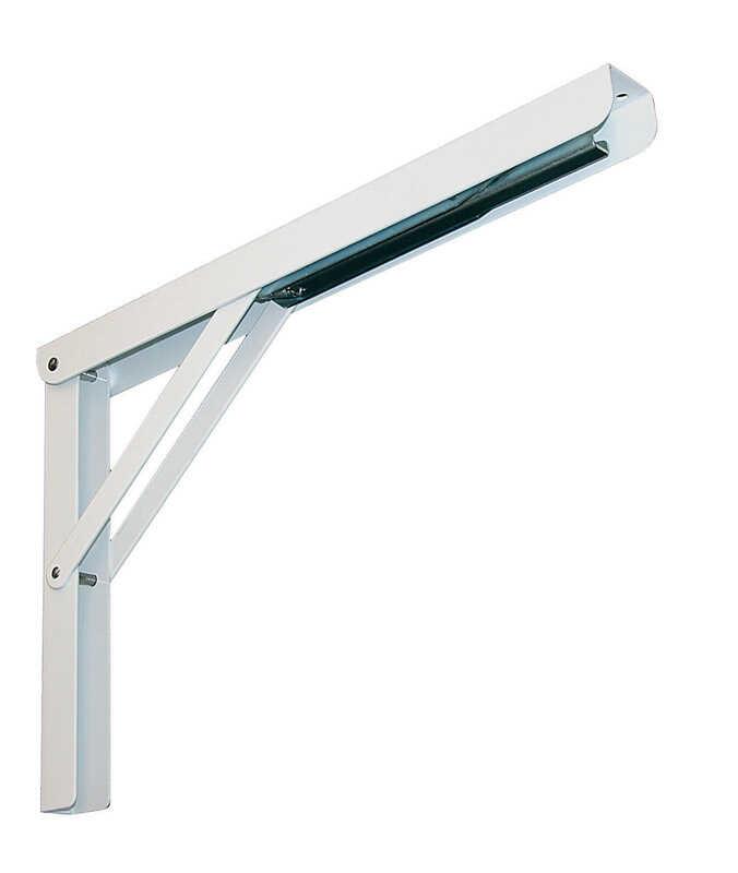 Knape Amp Vogt White Steel Folding L Ornamental Shelf