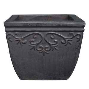 Southern Patio  6.69 in. H x 8.27 in. W Gray  Ceramic  Lylah  Planter