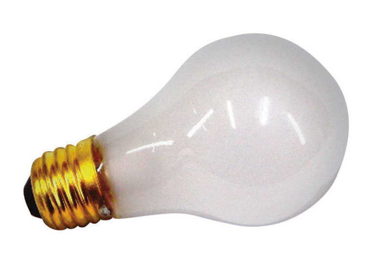 US Hardware  75 watts A19  Incandescent Bulb  White  1 pk Appliance