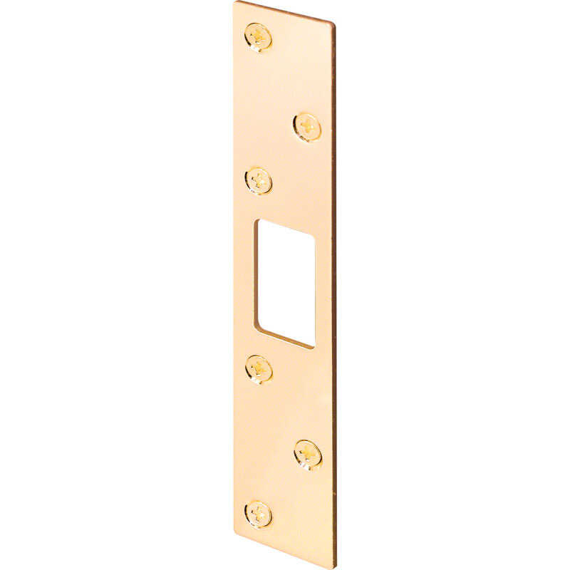 Prime-Line  6 in. H x 1.125 in. L Brass-Plated  Steel  Security Strike
