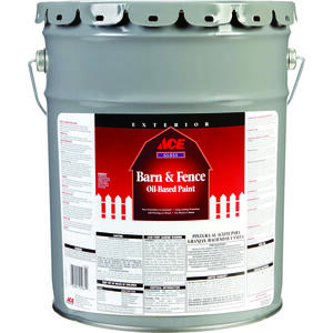 Ace  Gloss  Barn Red  Oil-Based  Barn and Fence Paint  5 gal.