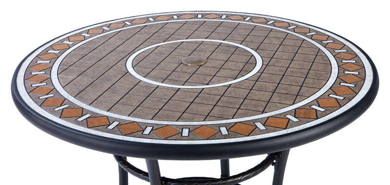 Living Accents  Brown  Palermo  Dining Table  Round