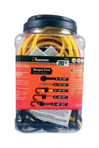 Keeper  Assorted  Bungee Cord Set  0.315 in. L x 0.315 in.  20 pk