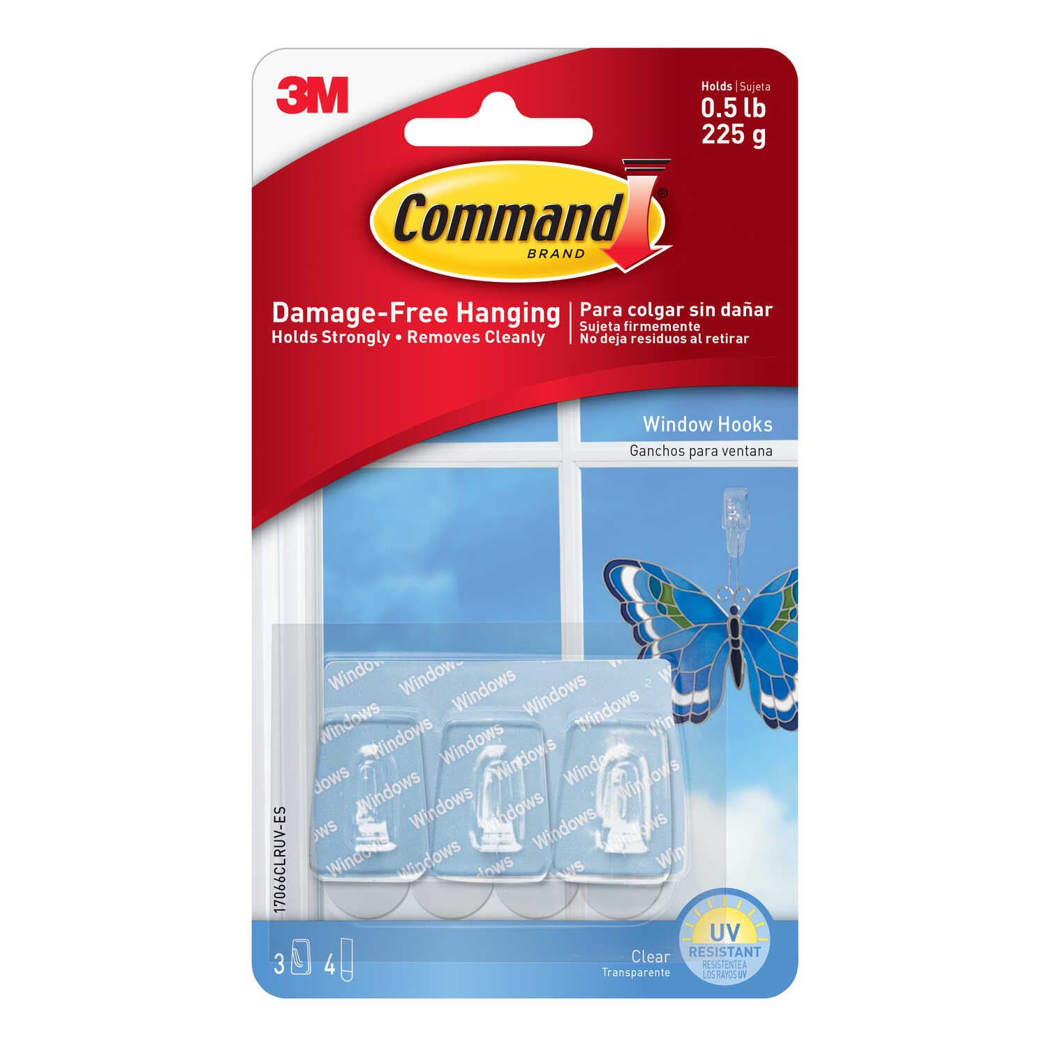3M  Command  Small  Hook  1-1/8 in. L Plastic  3 pk