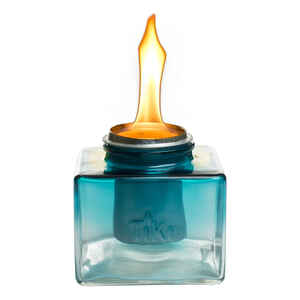Tiki  Clean Burn  Glass  Teal  5.2 in. Tabletop Torch