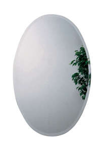 Zenith Metal Products  32 in. H x 4-3/4 in. D x 21 in. W Oval  Medicine Cabinet/Mirror
