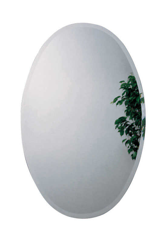Zenith  31 in. H x 21 in. W x 4 in. D Oval  Medicine Cabinet/Mirror