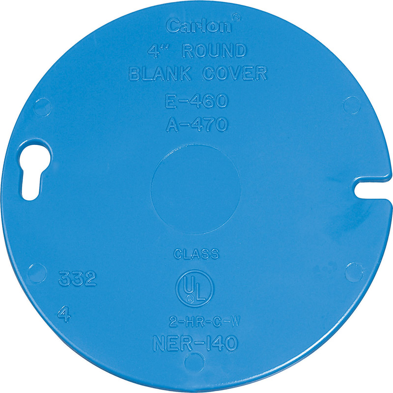 Carlon  Round  PVC  Flat Box Cover  For Ceiling Boxes