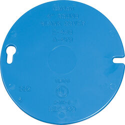 Carlon  Round  PVC  1 gang Flat Box Cover  For Ceiling Boxes