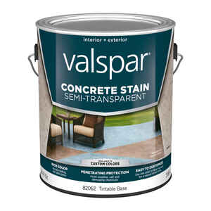 Valspar  Semi-Transparent  Tintable  Base 4  Concrete Stain  1 gal.