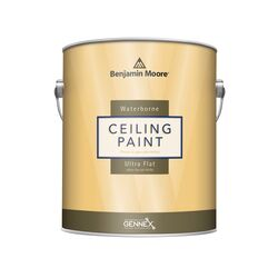 Benjamin Moore Waterborne Ceiling Paint Flat Base 4 Ceiling Paint Interior 1 gal.