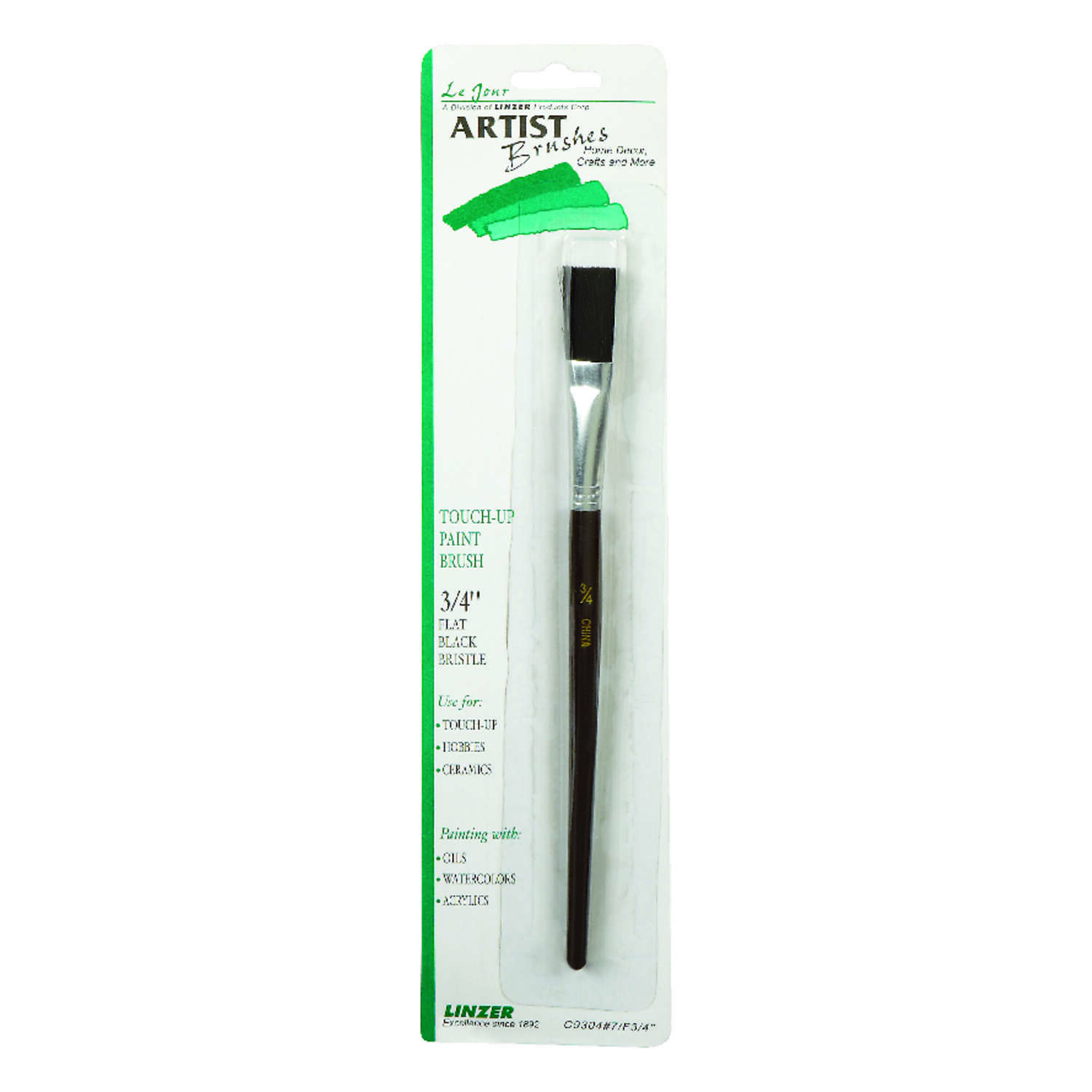 Linzer  3/4 in. W Flat  Touch-Up Paint Brush