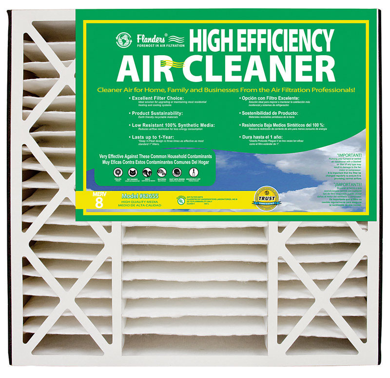 Flanders-Precisionaire  25 in. H x 16 in. W x 3 in. D Polyethylene/Polypropylene  Air Filter