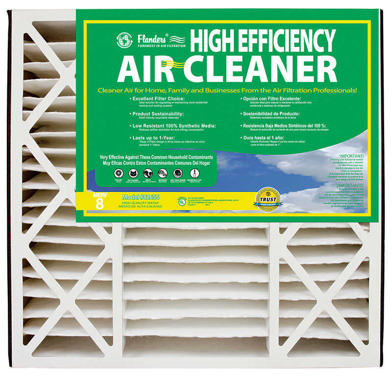 AAF Flanders  25 in. H x 16 in. W x 3 in. D Polyethylene/Polypropylene  Air Filter