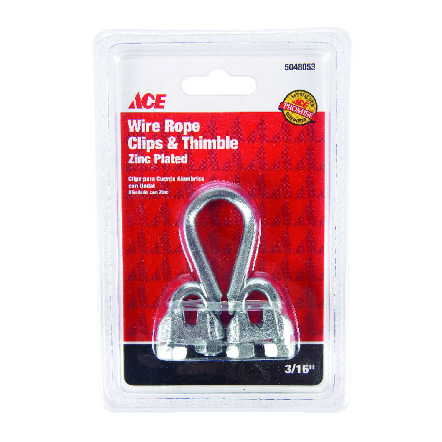 Ace  Galvanized  Wire Rope Clips and Thimble  Steel  1 pk