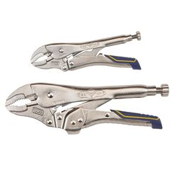 Irwin Vise-Grip 2 pc. Metal Curved Pliers Set Assorted in. L
