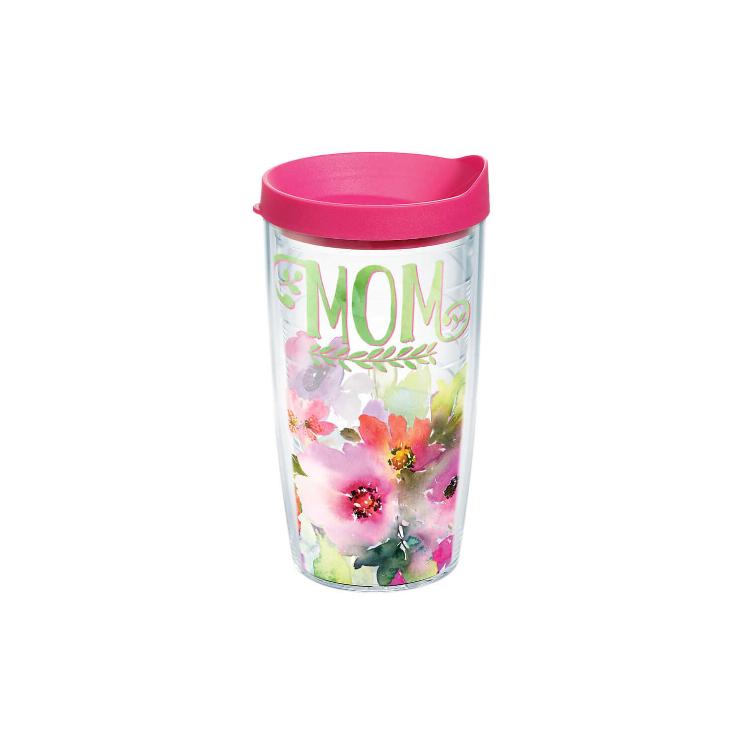 Tervis  Clear  Tritan  Mom - Watercolor Floral  Tumbler  BPA Free 16 oz.