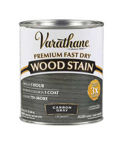 Varathane  Premium Fast Dry  Semi-Transparent  Carbon Gray  Wood Stain  1 qt.