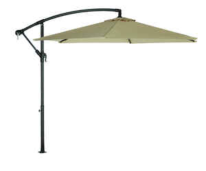 Living Accents  Offset  9 ft. Tiltable Taupe  Patio Umbrella