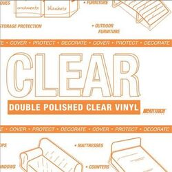 Magic Cover  Yard Goods  .01 in. H x 54 in. W x 540 in. L Clear  Vinyl  Non-Adhesive Covering