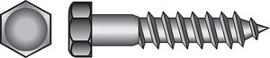 Hillman  3/8 in.  x 1-1/2 in. L Hex  Zinc-Plated  Steel  Lag Screw  100 pk