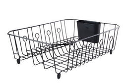 Rubbermaid  5.9 in. H x 13.8 in. W x 17.6 in. L Steel  Dish Drainer  Black