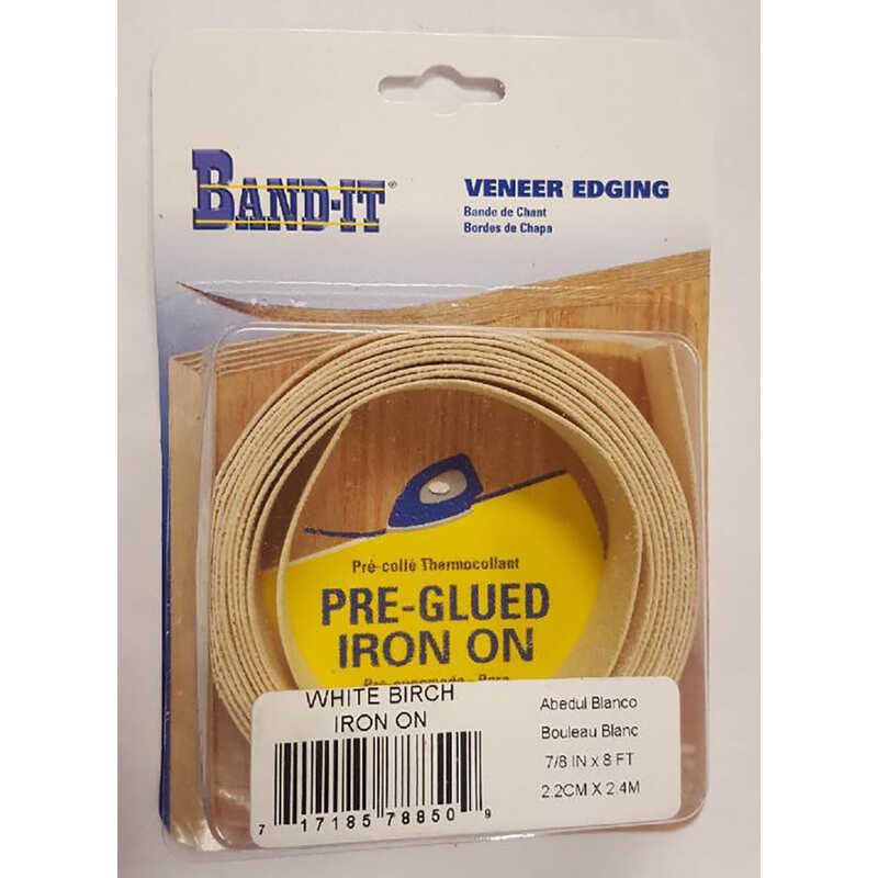Band It  7/8 in. W x 8 ft. L x .030 in.  White Birch  Edge Banding