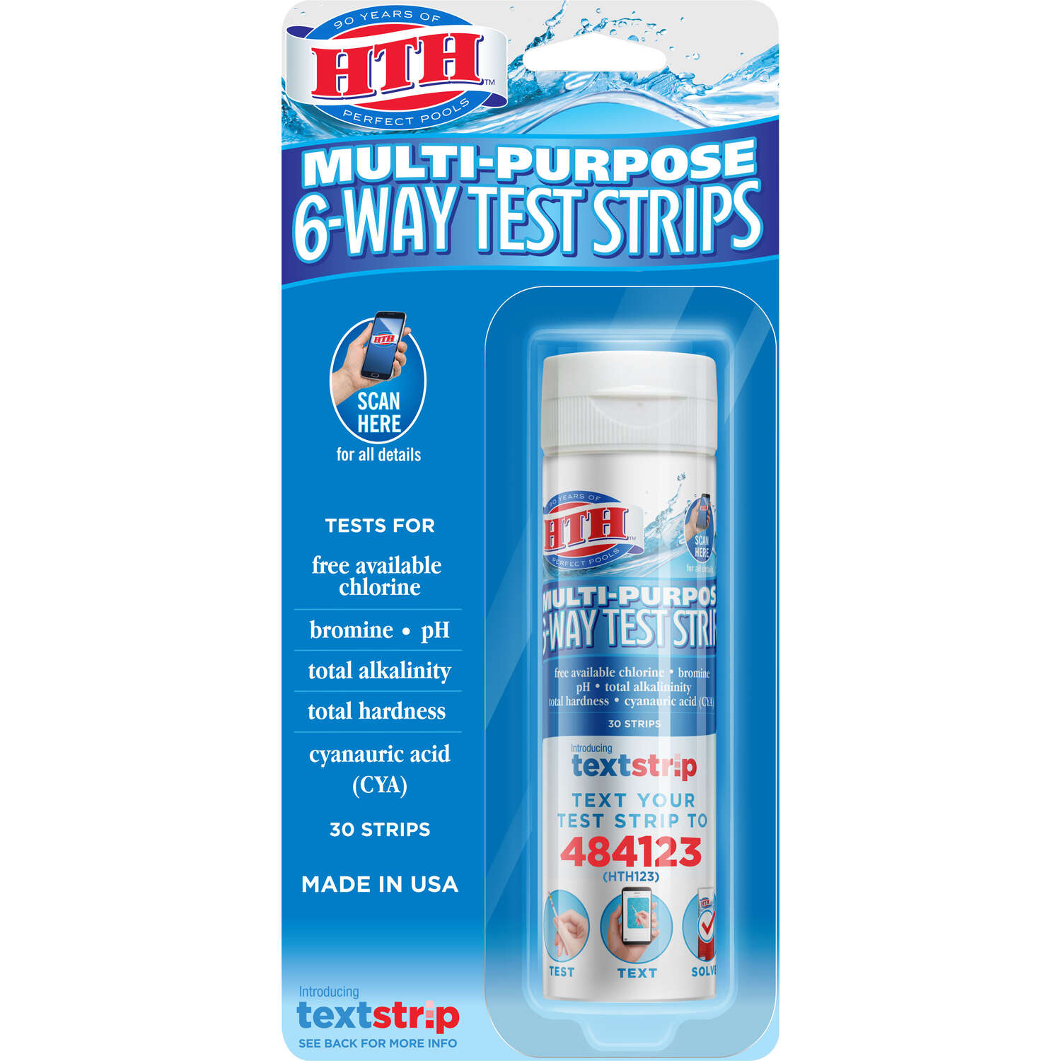 hth  6-Way Test Strips  2.5 oz.