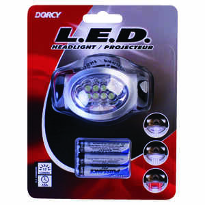 Dorcy  17 lumens Black  LED  Headlight  AAA Battery