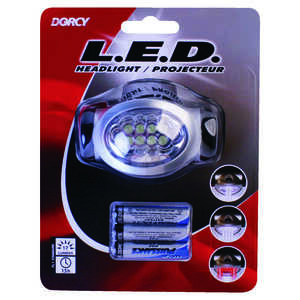 Dorcy  17 lumens Black  LED  Headlight  AAA