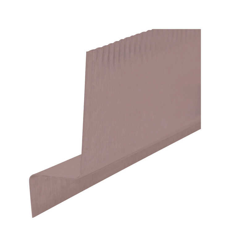 Amerimax  2 in. H x 2018-05-08 in. W x 10 ft. L Brown  Aluminum  Z Shape  Flashing