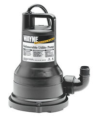 Wayne 1/5 hp 2050 gph Thermoplastic Switchless AC Utility Pump