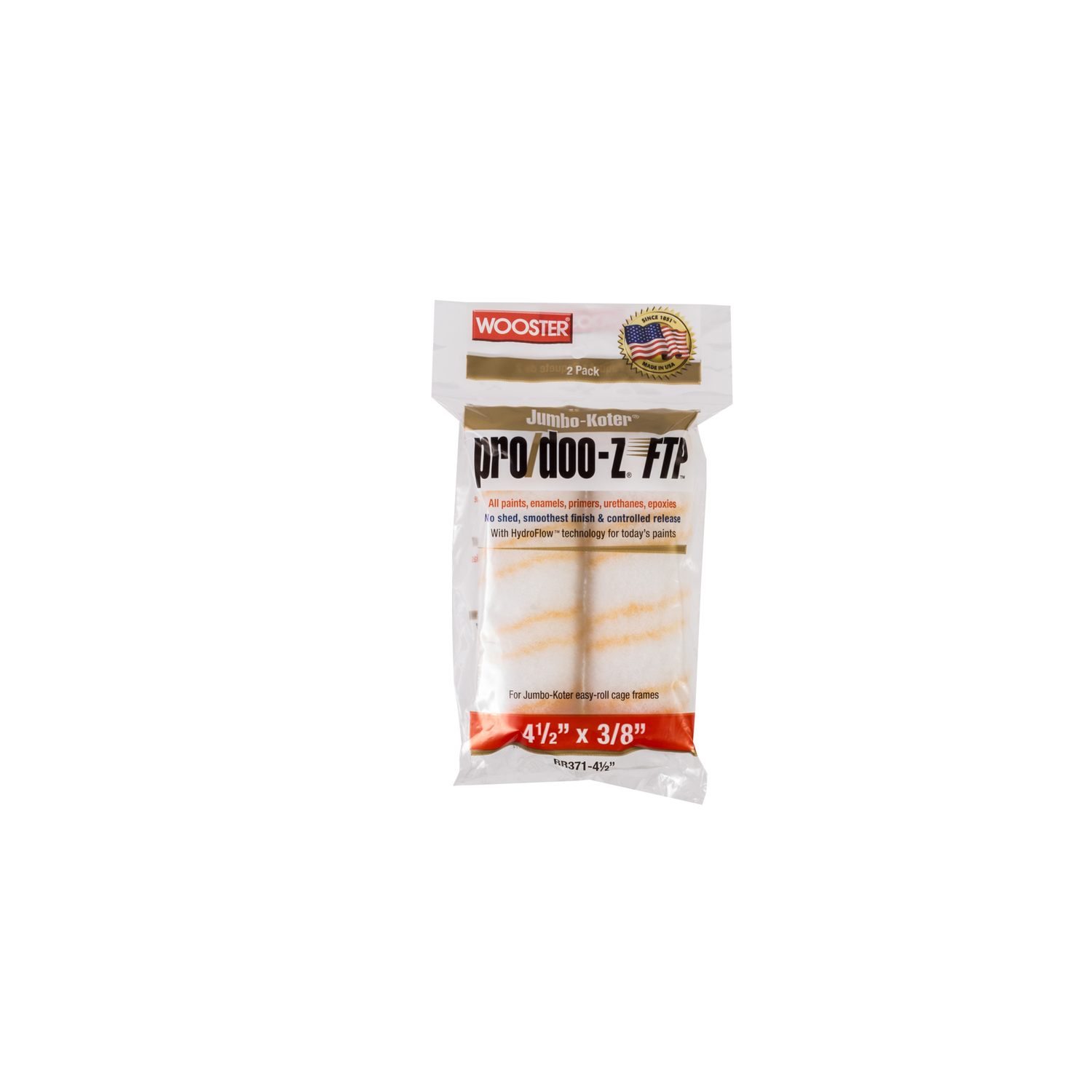 Wooster  Pro/Doo-Z FTP  Synthetic Blend  3/8 in.  Paint Roller Cover  For Semi-Smooth Surfaces 2 pk