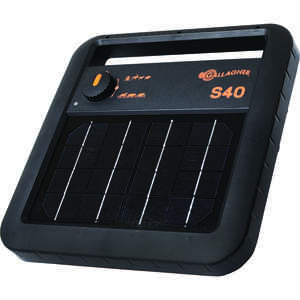 Gallagher  S40  6 volt Solar  Fence Energizer  25 mi. Black/Orange