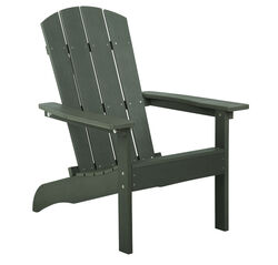 Living Accents  1 pc. Slate  Resin Frame Adirondack  Chair