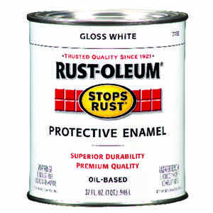 Rust-Oleum  Stops Rust  Gloss  White  Protective Enamel  Indoor and Outdoor  485 g/L 1 qt.