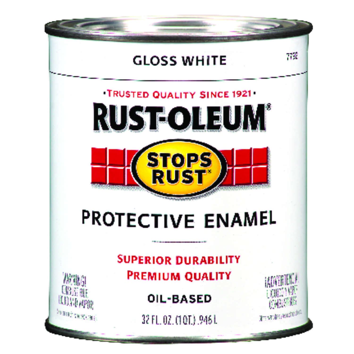 Rust-Oleum  Indoor and Outdoor  Gloss  White  Protective Enamel  1 qt.